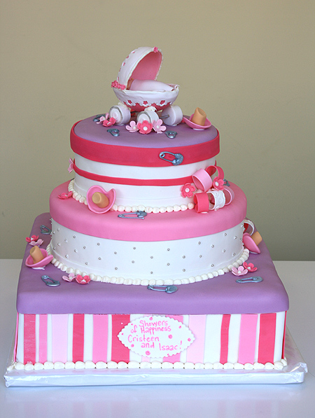 Baby Carriage Shower Cake