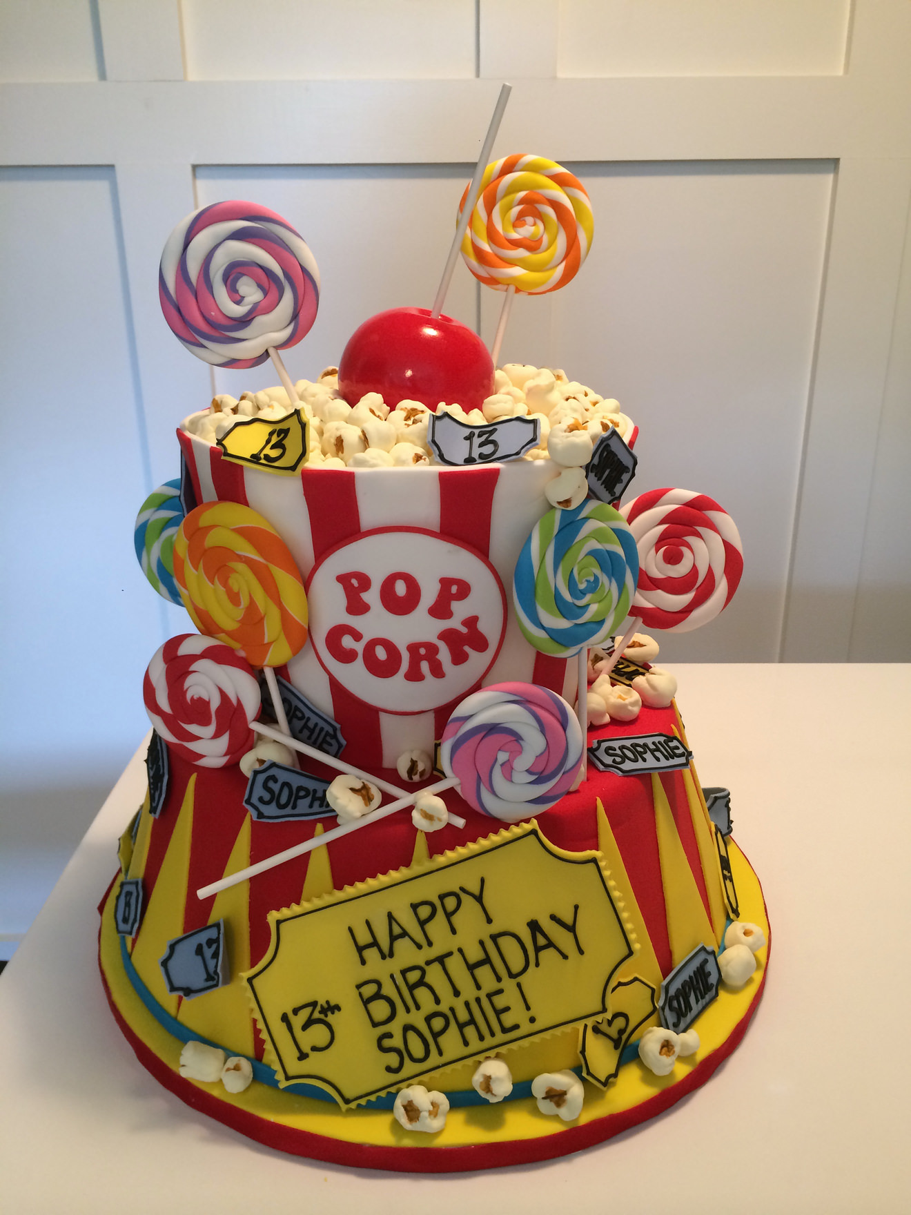 Carnival Popcorn Birthday Cake By Cakesuite Serving Connecticut And
