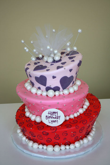 Cake Decorations New Lynn : Birthday Cake with Pearls by CakeSuite, serving ...