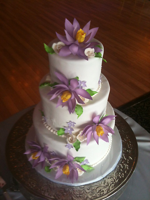 Lotus Wedding Cake By Cakesuite Serving Connecticut And