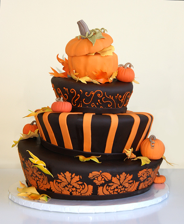 Topsy Turvey Autumn Cake By Cakesuite Serving Connecticut